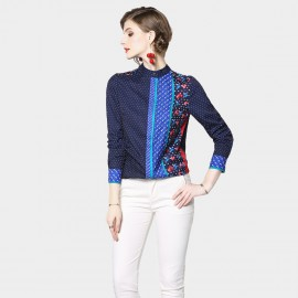 ZOFS Dotted Blue Shirt (7151)
