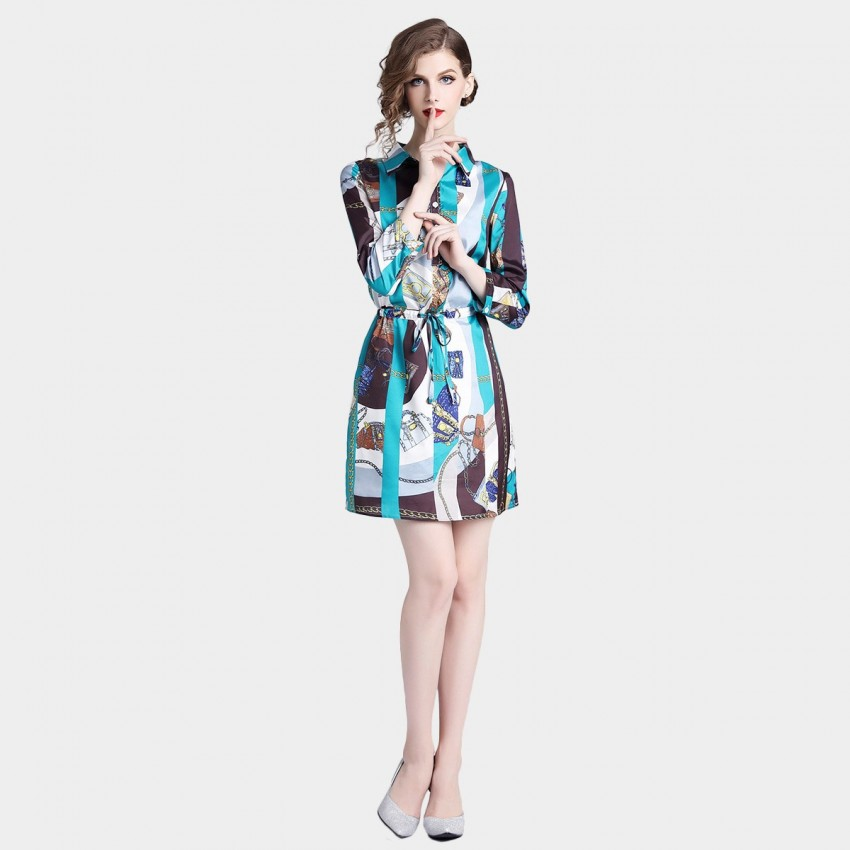 Buy ZOFS Blue Shirt Dress online, shop ZOFS with free shipping