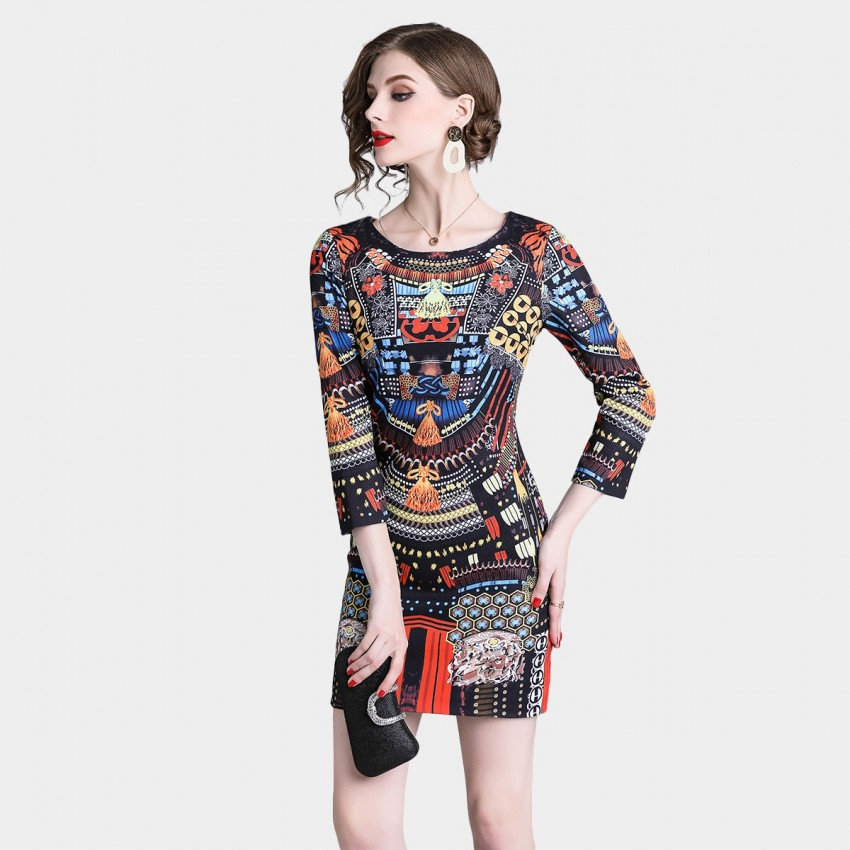 Buy ZOFS Oriental Multi Dress online, shop ZOFS with free shipping