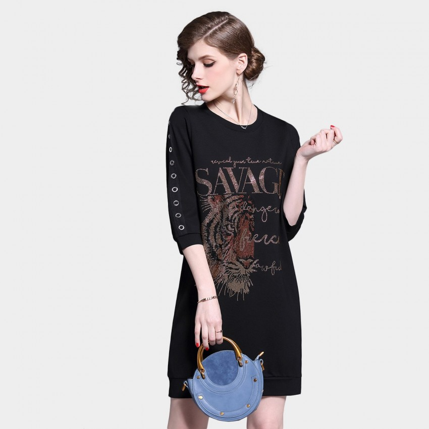 Buy ZOFS Savage Black Dress online, shop ZOFS with free shipping