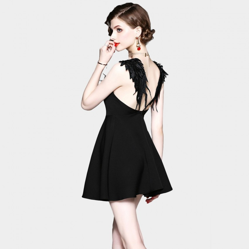 Buy ZOFS Devil Mini Black Dress online, shop ZOFS with free shipping