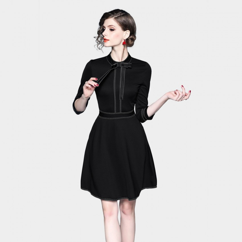 Buy ZOFS Ribbon Black Dress online, shop ZOFS with free shipping