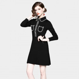 ZOFS Mini Shirt Black Dress (8923)