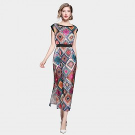 ZOFS Diamon Maxi Multi Dress (8959)