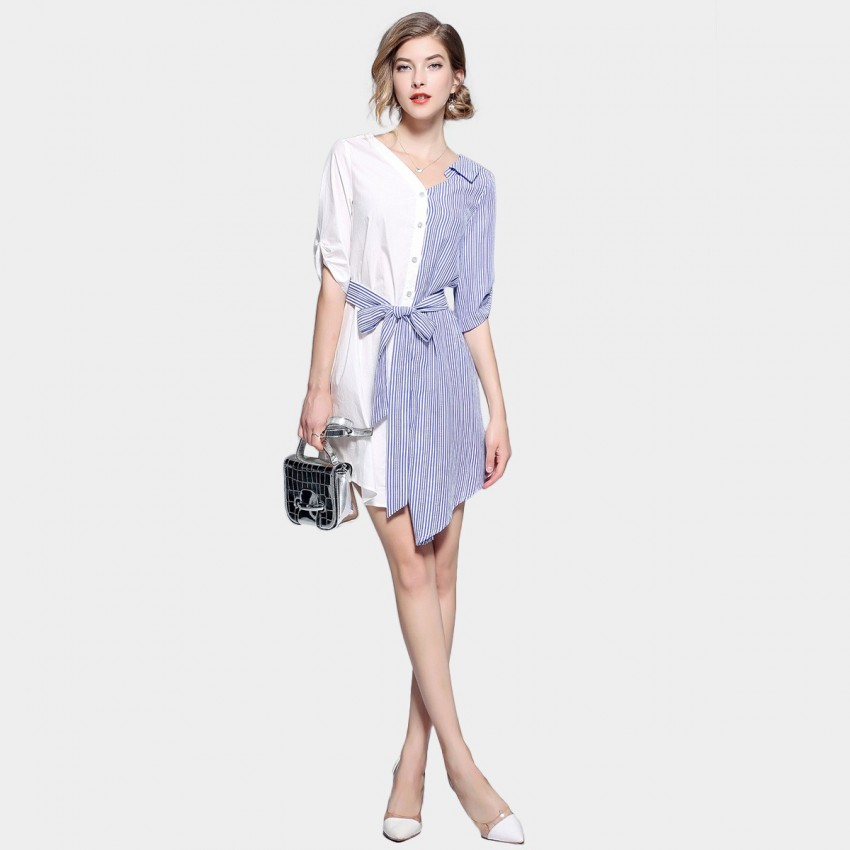 Buy ZOFS Half-Half Blue Dress online, shop ZOFS with free shipping