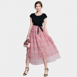 ZOFS Princess Layered Pink Dress (8970)