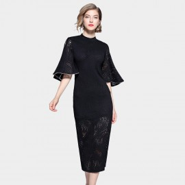 ZOFS Cheongsam Black Dress (8975)