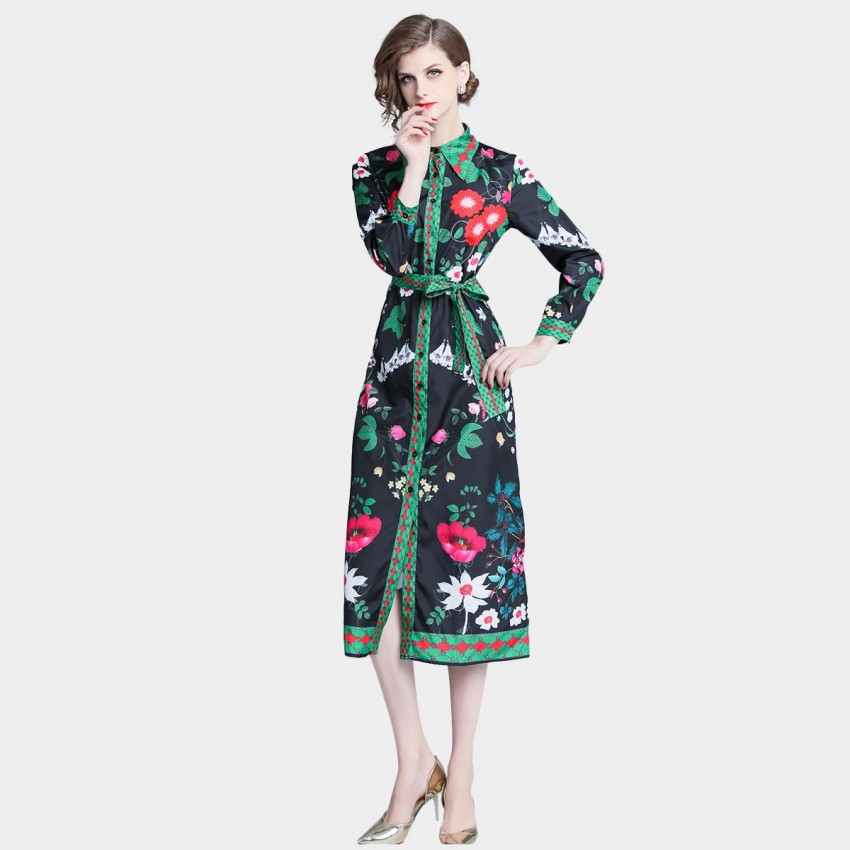 Buy ZOFS Mixed Floral Green Dress online, shop ZOFS with free shipping
