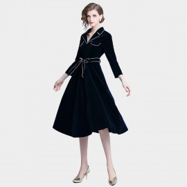 ZOFS Outlined Navy Coat (8992)