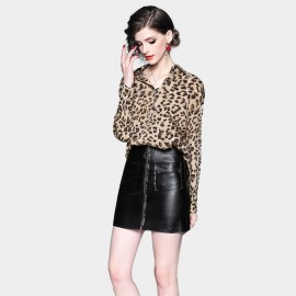 ZOFS Simple Leopard Shirt (8994)