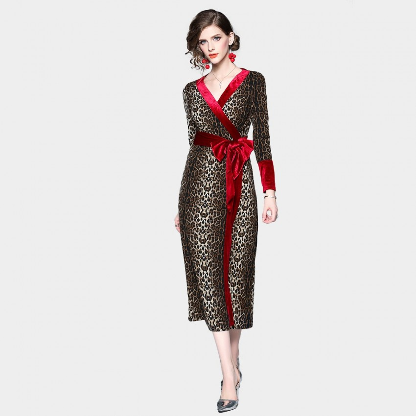 Buy ZOFS Leopard Brown Dress online, shop ZOFS with free shipping
