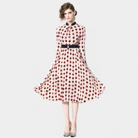 ZOFS Polka Dot Apricot Dress (9115)