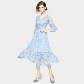 ZOFS Lace Baby Blue Dress (9668)
