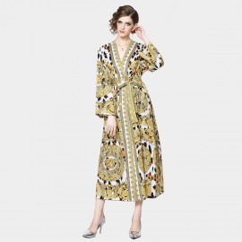 ZOFS Shining Wrap Yellow Dress (9676)
