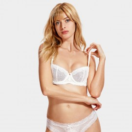 Dobreva Innocent Unlined Ivory Bra (F081)