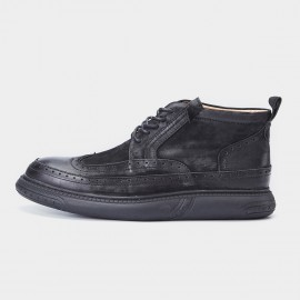 Herilios Calf Leather Vintage Black Hi-Top (H7305G31)