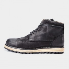 Herilios Basic Tinted Ankle Black Boot (H7305G37)