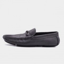 Herilios Simplicity Light Sole Black Loafer (H8105D32)