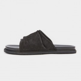 Herilios Extra Wide Leather Strap Black Slipper (H8105L38)