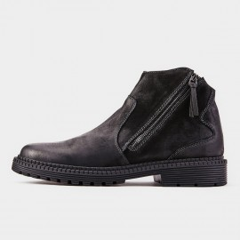 Herilios Killer Zipper Ankle Black Boot (H8305G39)
