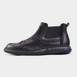 Herilios Wingtip Cushion Ankle Black Boot (H8305G44)