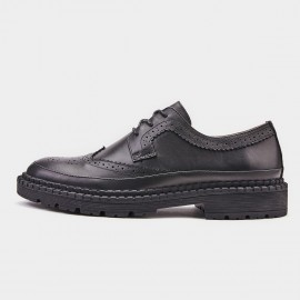 Herilios Breathable Oxford Black Lace Up (H9105D62)