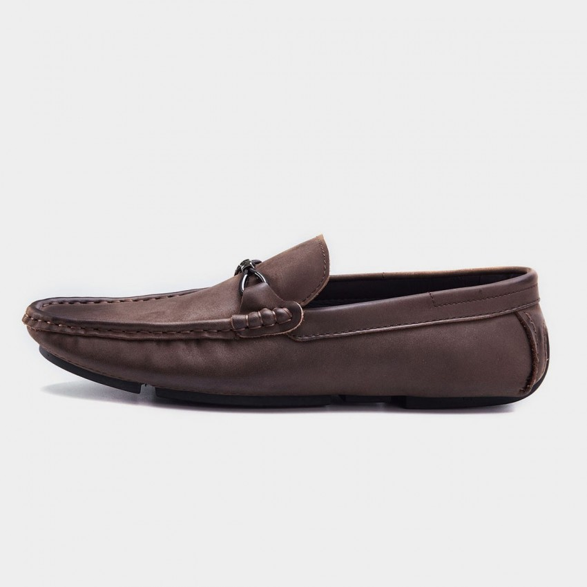 Herilios Simplicity Light Sole Brown Loafer (H8105D32)