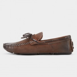 Herilios Bow Pointed Toe Brown Loafer (H8105D36)