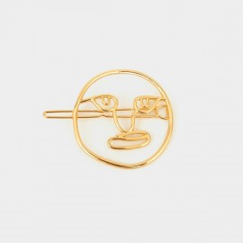 Coen C Clown Face Gold Hair Clip (A00353K1)
