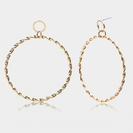 Coen C Hoop Wheelmark Gold Earrings (B01291K1)
