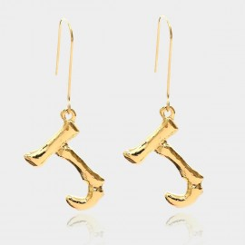 Coen C Bony J Gold Earrings (B01294KJ)