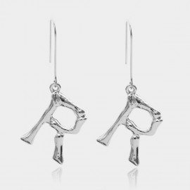 Coen C Bony R Silver Earrings (B01294KR)