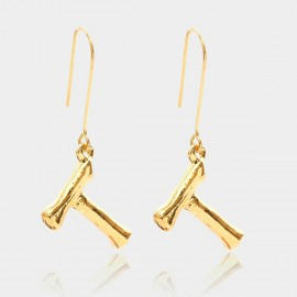 Coen C Bony T Gold Earrings (B01294KT)