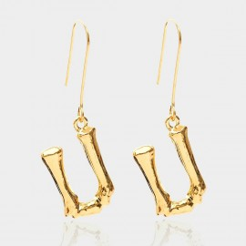 Coen C Bony U Gold Earrings (B01294KU)