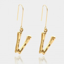 Coen C Bony V Gold Earrings (B01294KV)
