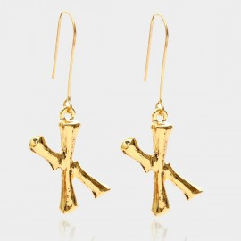 Coen C Bony X Gold Earrings (B01294KX)