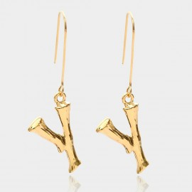 Coen C Bony Y Gold Earrings (B01294KY)