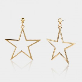 Coen C Pentagram Gold Earrings (B01296K1)
