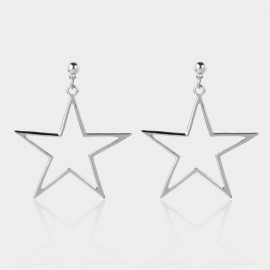 Coen C Pentagram Silver Earrings (B01296K1)
