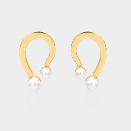 Coen C Dancing Foot Gold Earrings (B01301K1)
