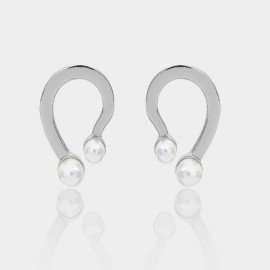 Coen C Dancing Foot Silver Earrings (B01301K1)