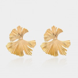 Coen C Flying Leaf Gold Earrings (B01302K1)