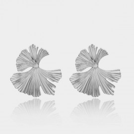 Coen C Flying Leaf Silver Earrings (B01302K1)