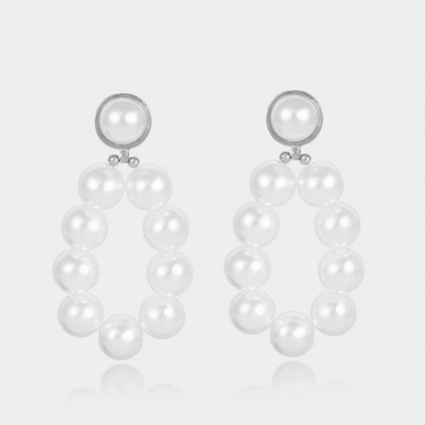 Coen C Pearl Bubbles Silver Earrings (B01309K1)