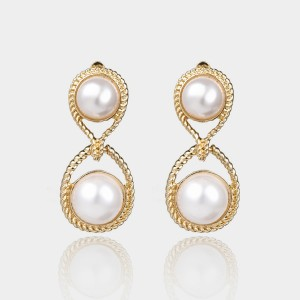Coen C Pearl 8 Gold Earrings (B01348K1)