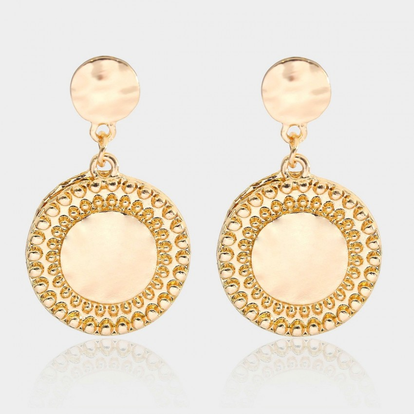 Coen C Ancient Plate Gold Earrings (B01350K1)