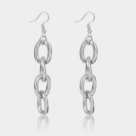 Coen C Cross Chain Silver Earrings (B01374K1)