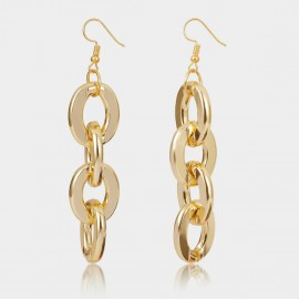 Coen C Bold Cross Chain Gold Earrings (B01374K2)