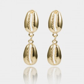Coen C Sea Messenger Gold Earrings (B01375K1)