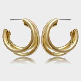 Coen C Triple C Gold Earrings (B01377K1)